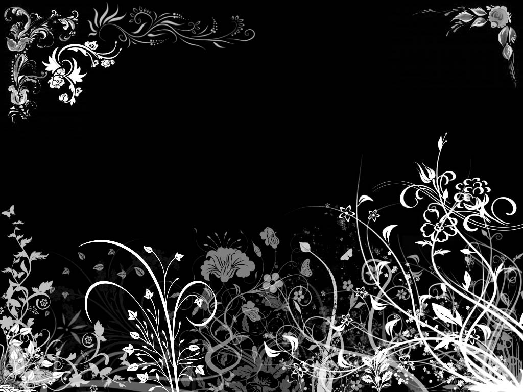 pink wallpaper web Black Floral Wallpaper 1024x768