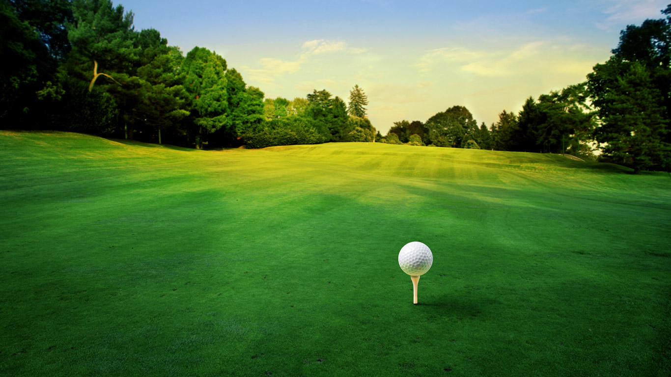 Golf Macro Wallpaper HD 5743 Wallpaper High Resolution Wallarthd 1366x768