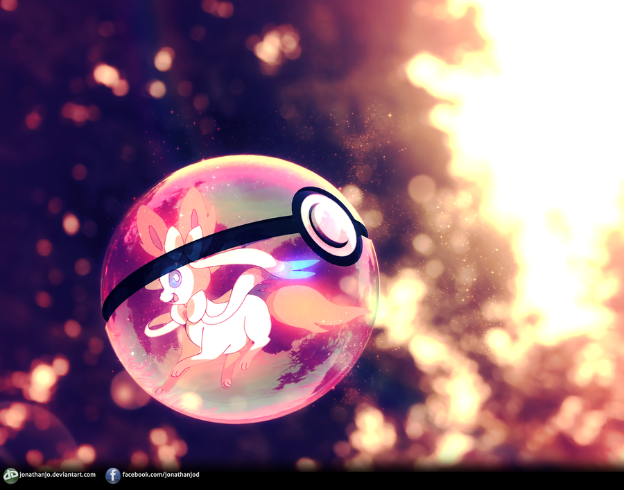Epic Pokeball Wallpaper Sylveon pokeball by jonathanjo 900x706