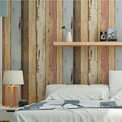 Birwall Vintage Weathered Wood Panel Wood Plank Wallpaper Wall Mural 500x500