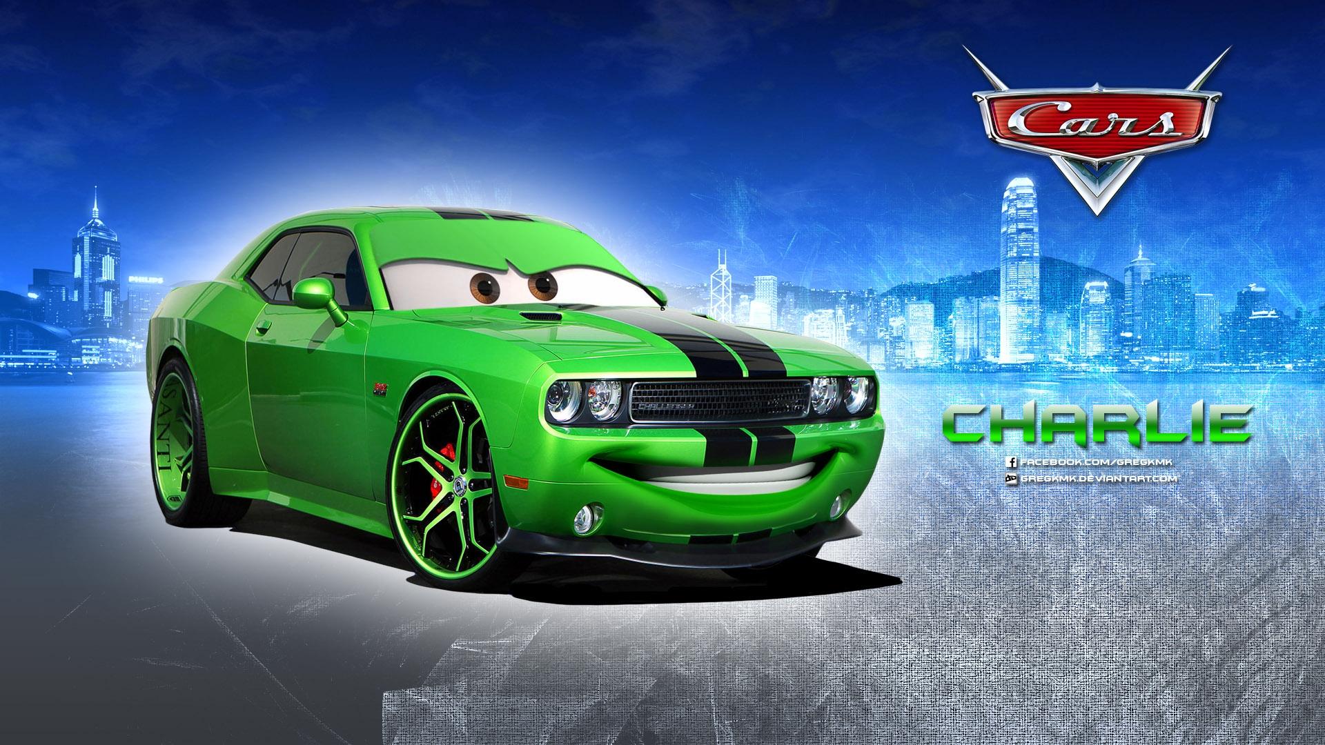 charlie dodge challenger disney pixar cars 1 2 hd wallpaper 1920x1080