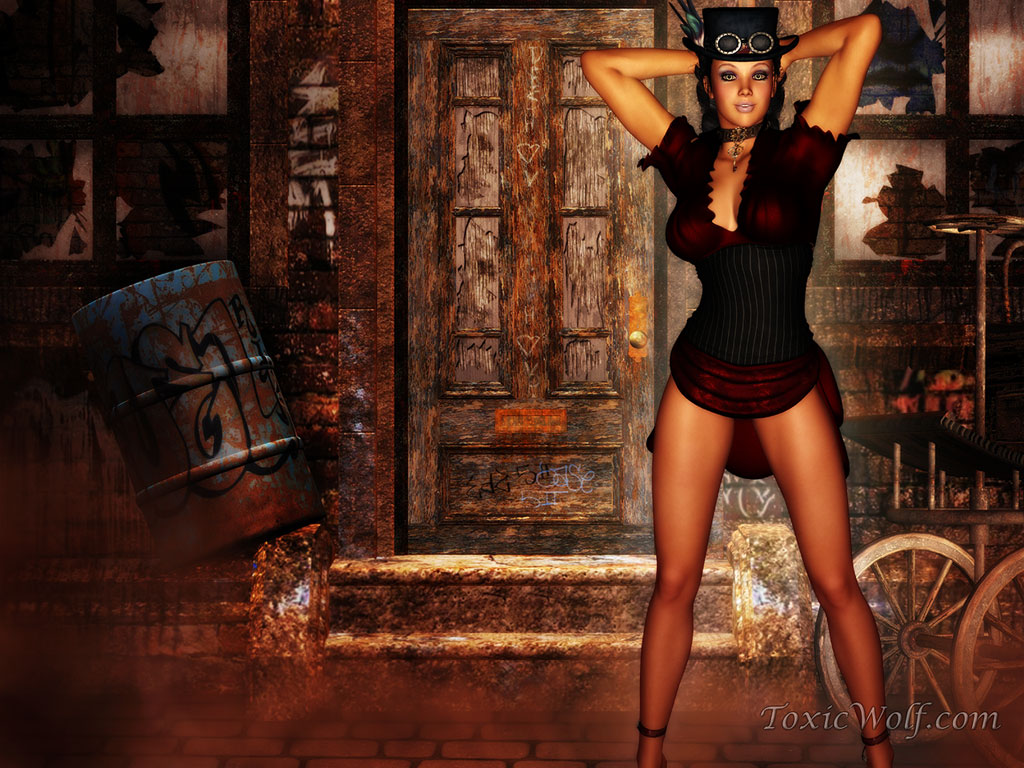 Steampunk Girl Wallpaper 1024x768