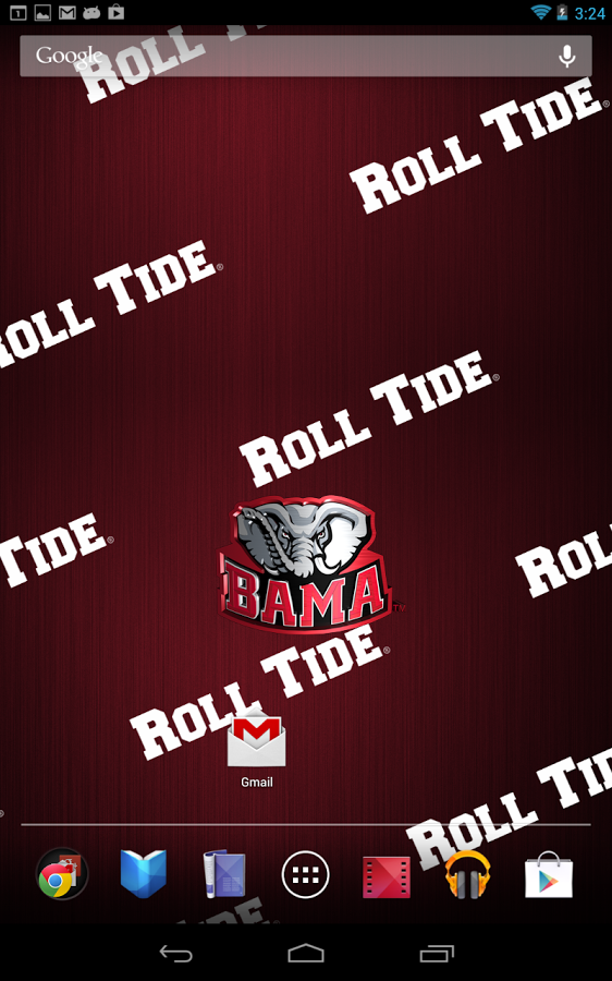 alabama crimson tide live wallpaper with animated 3d logo background 562x900