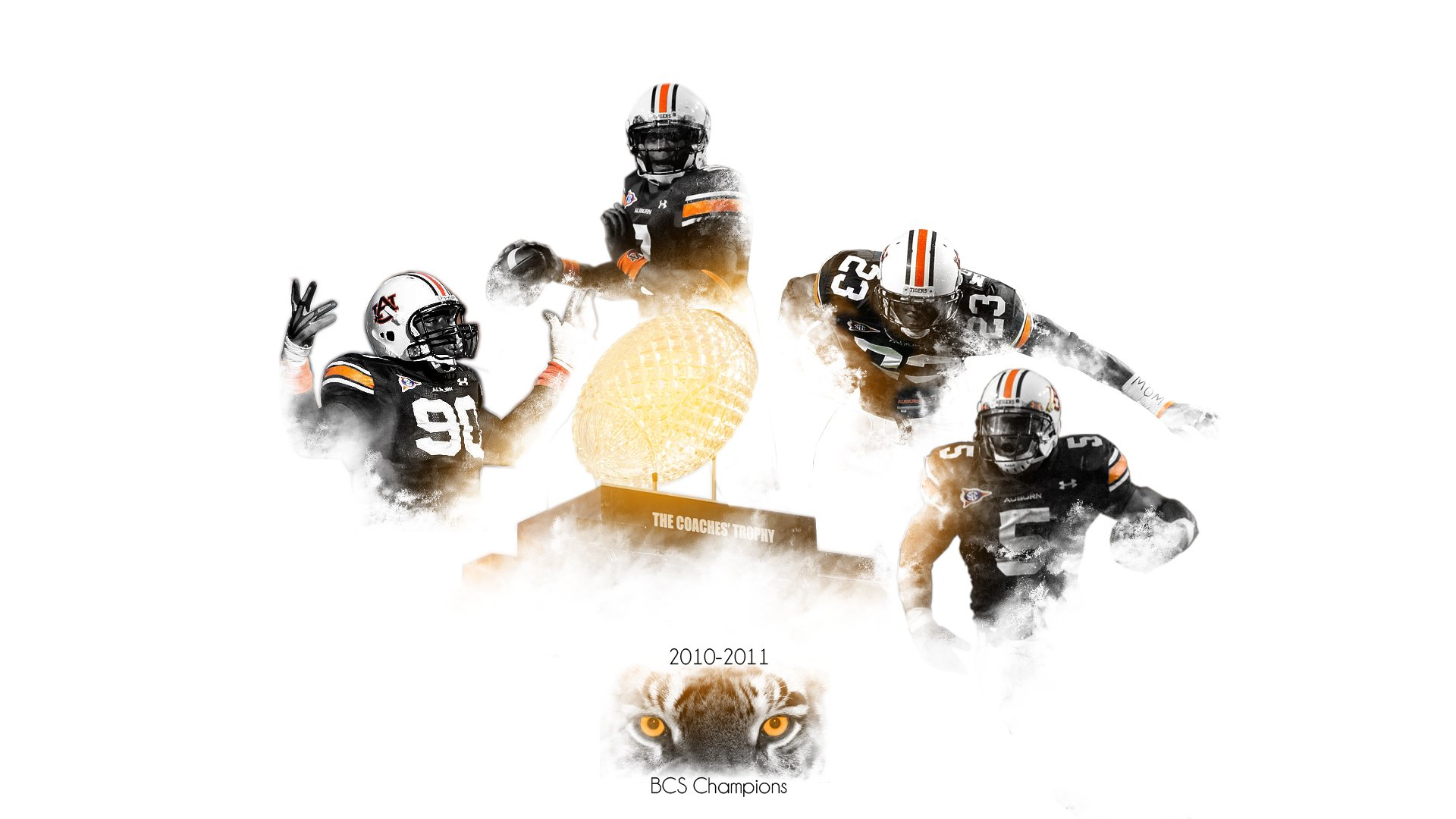 Auburn Tigers Football Desktop Wallpaper Collection   Dark Brown Hairs 1920x1080