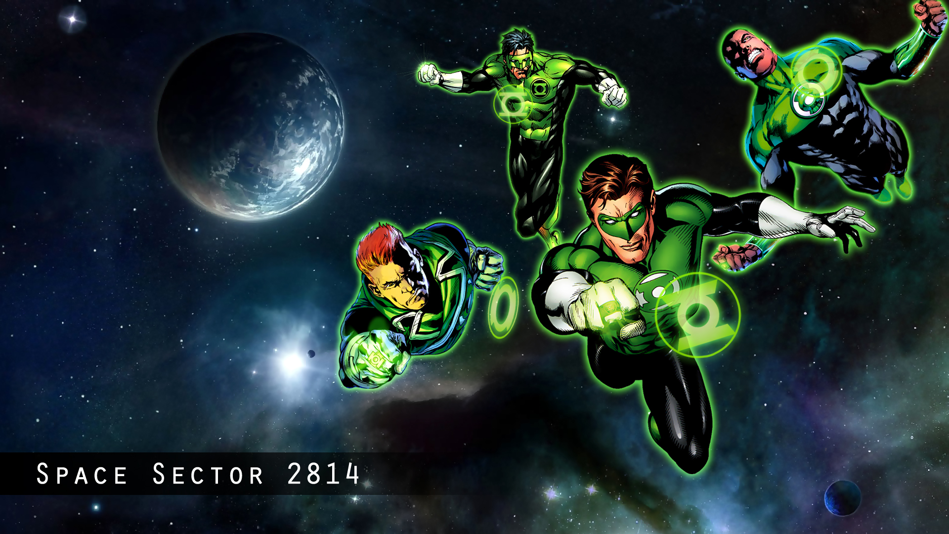 green lantern corps sector 2814 by gomur fan art wallpaper other 2011 1920x1080