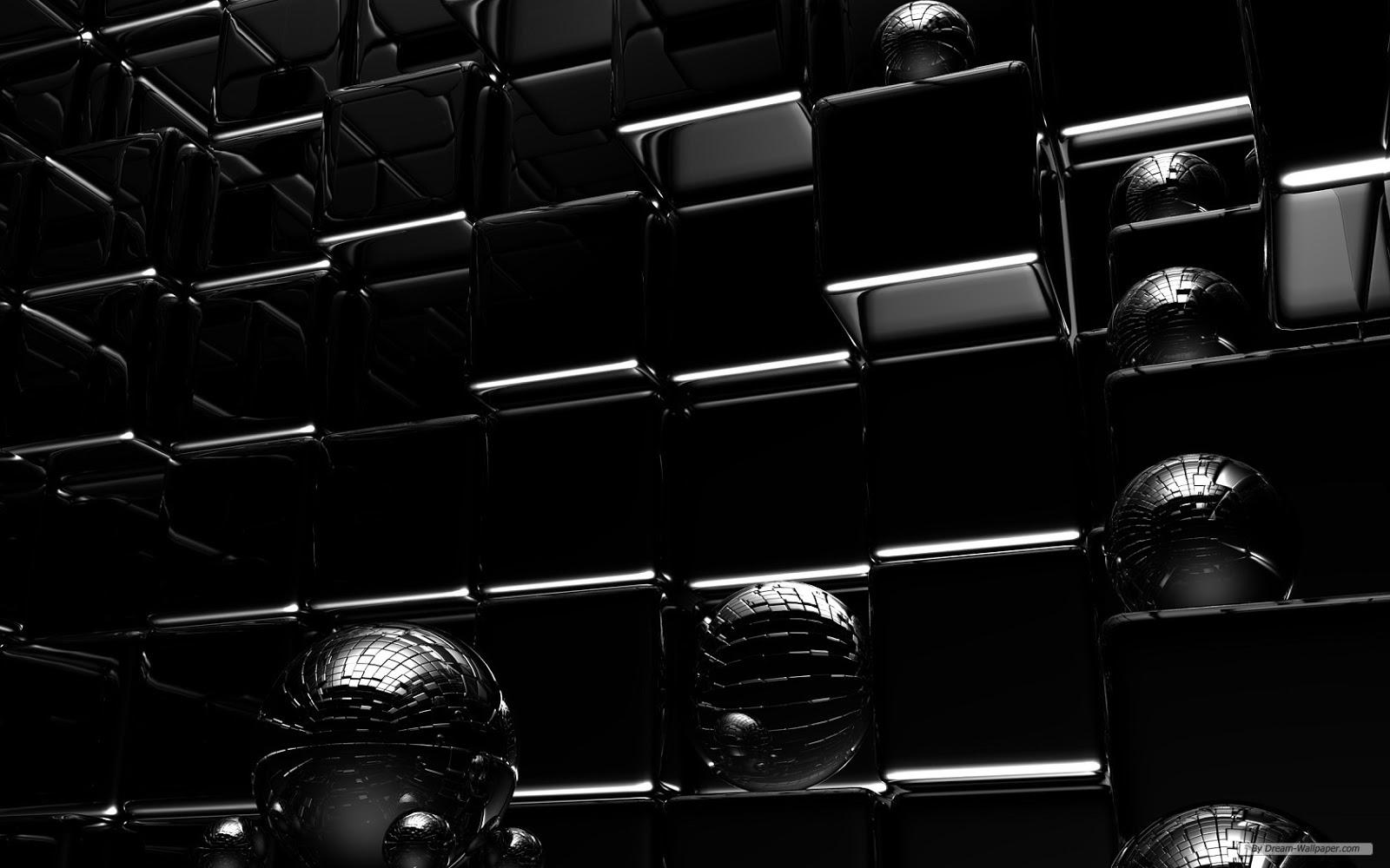 Black Wallpaper 3D Download Wallpaper DaWallpaperz 1600x1000