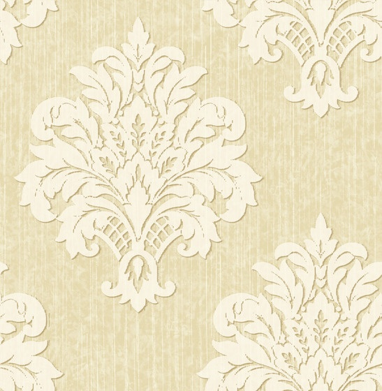 Crown Wallpaper Fabrics Toronto Beige Damask Wallpaper Pintere 547x560