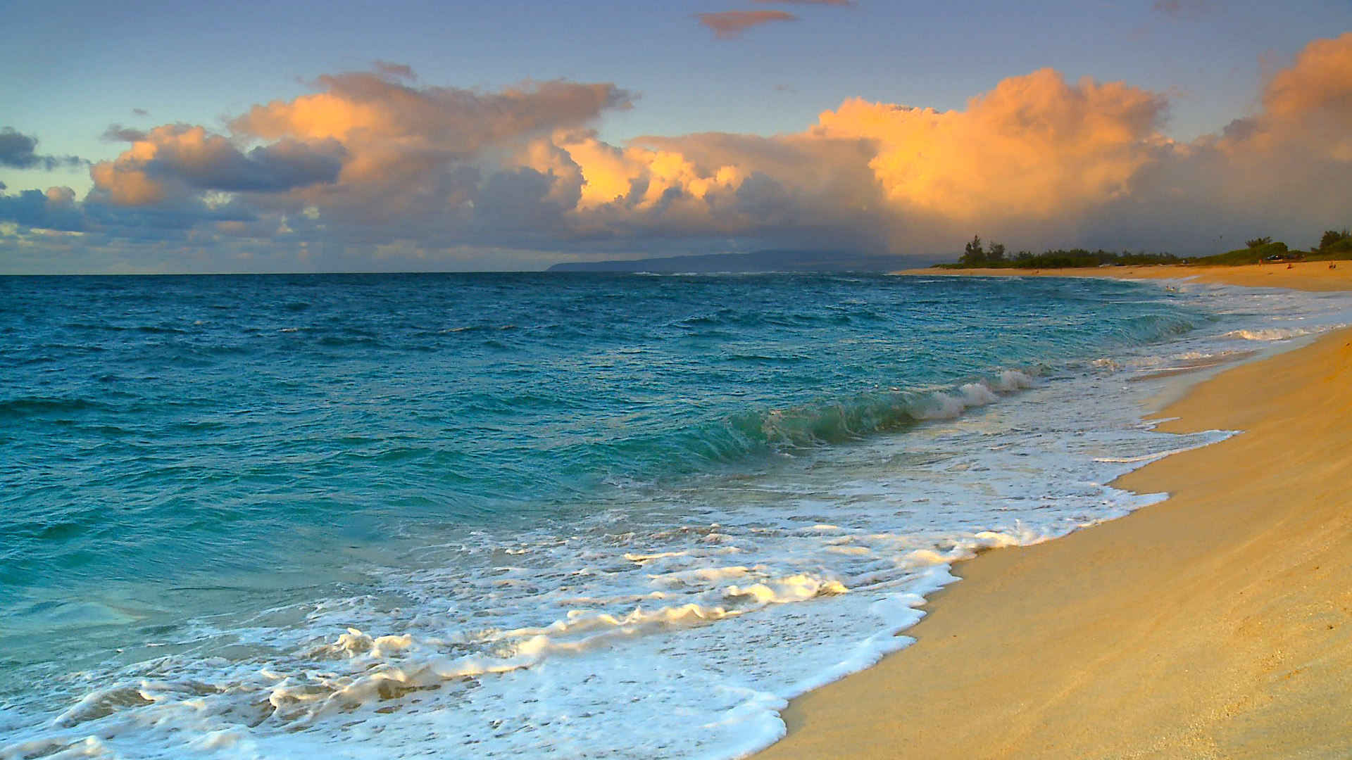 Hawaii Background Screensaver Beach Beaches Media Webshots Beautiful 1920x1080