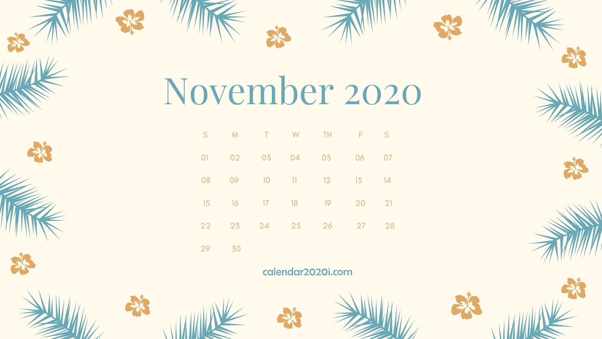 November 2020 Calendar Desktop Wallpaper Calendar 2020 in 2019 1920x1080