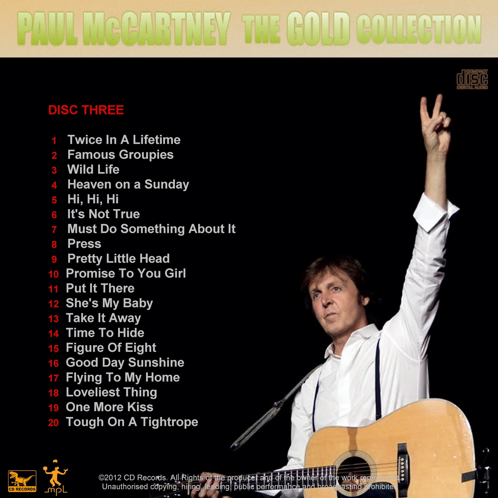 Paul McCartney   The Gold Collection 2012 3 CDs 1600x1600