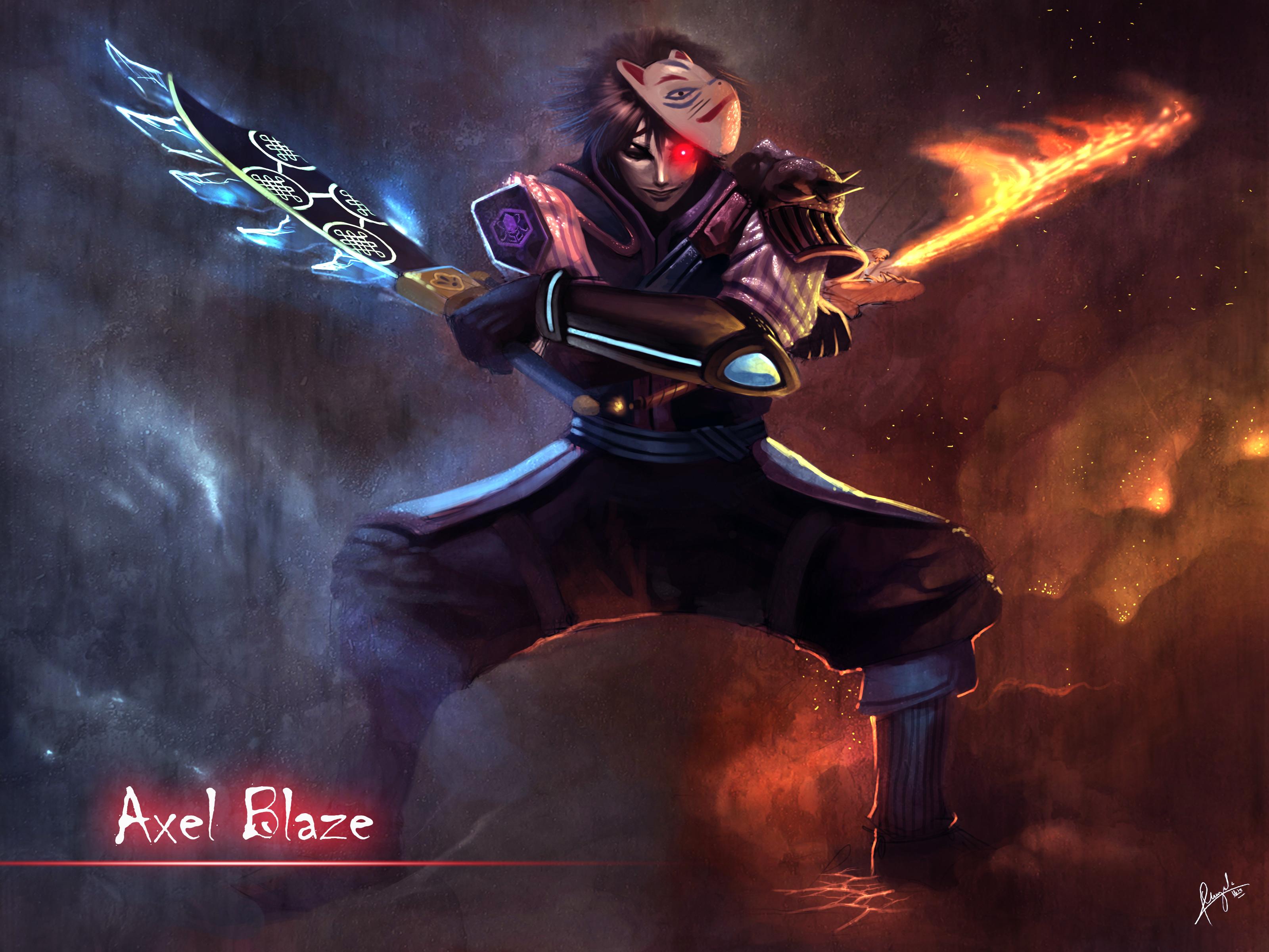 Axel Blaze Siddharth storm   Ninja saga by UchihaAxel05 3200x2400