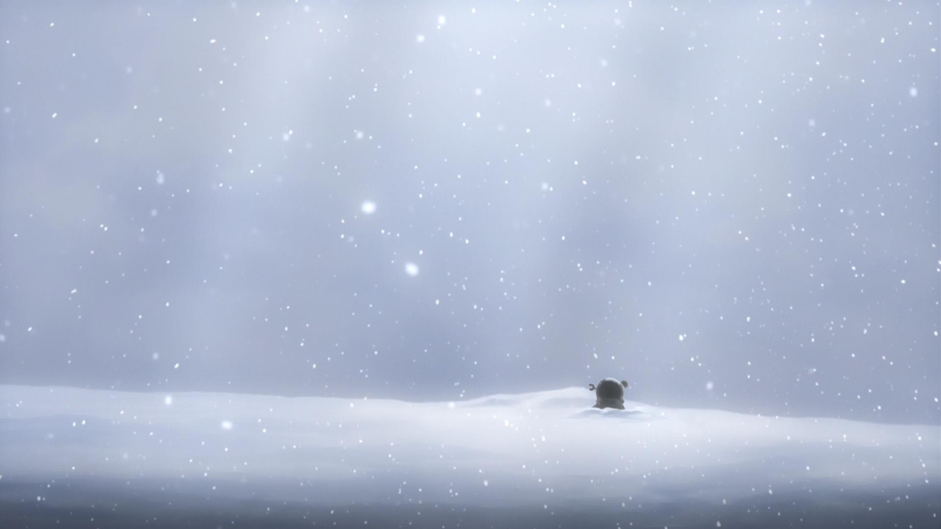 anime hallway paper snow scene snowy 1920x1080 1920x1080