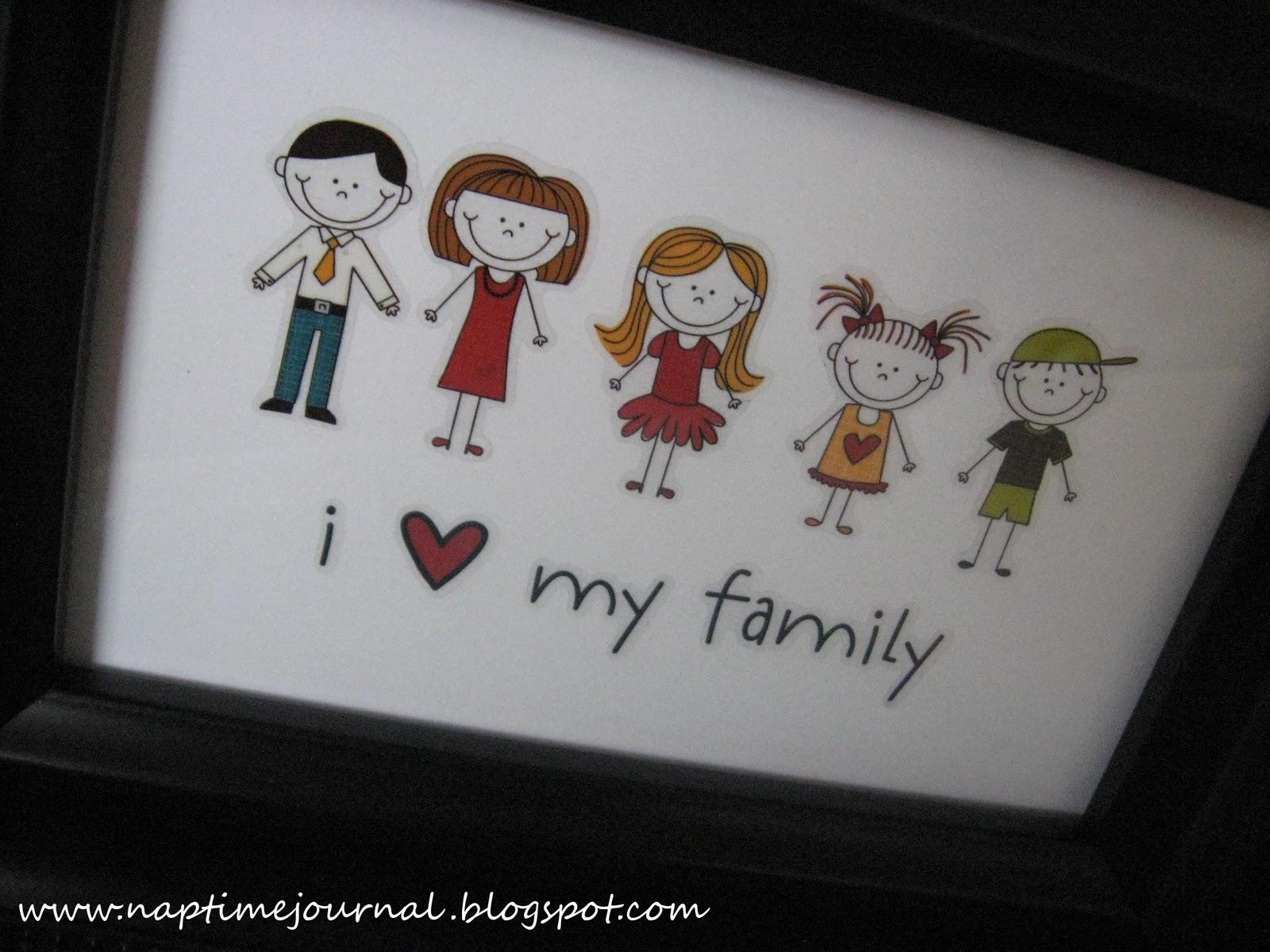 Nap Time Journal I love my Family FrameDIY 1600x1200