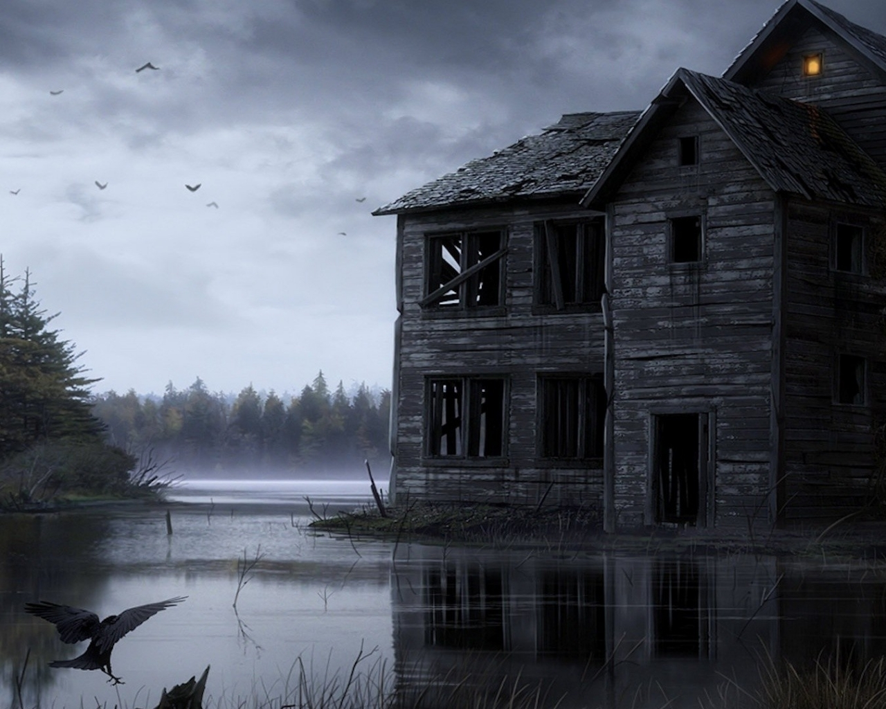 Related Pictures 3d haunted house wallpaper 1280x1024