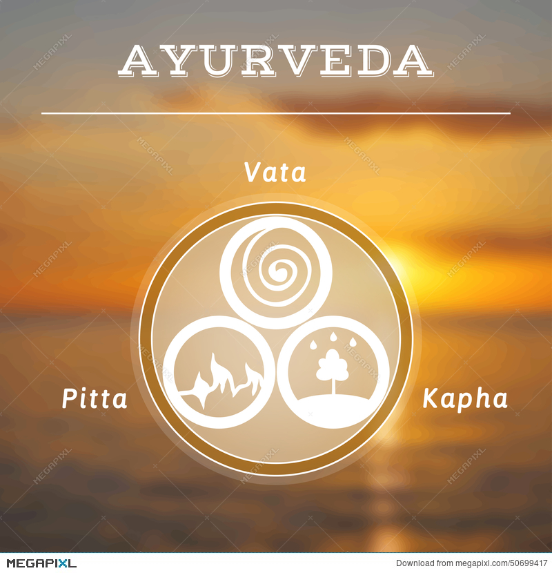 Ayurveda Illustration Ayurveda Doshas Blurred Photo Background 800x830