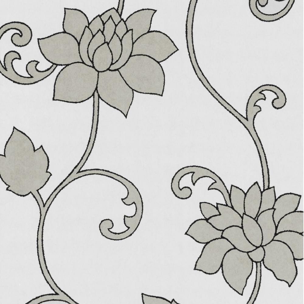 PS Decor Deluxe Orpheo Floral Trail Metallic Textured Wallpaper 1000x1000