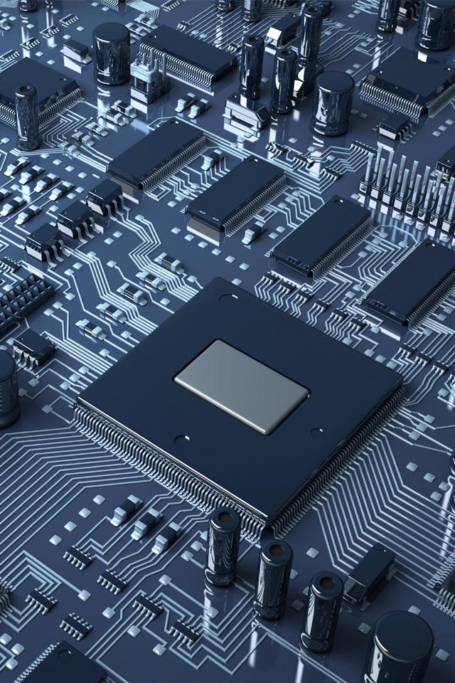 Computer Chip Wallpaper 640x960