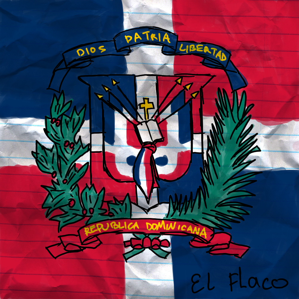 how to draw the dominican flag