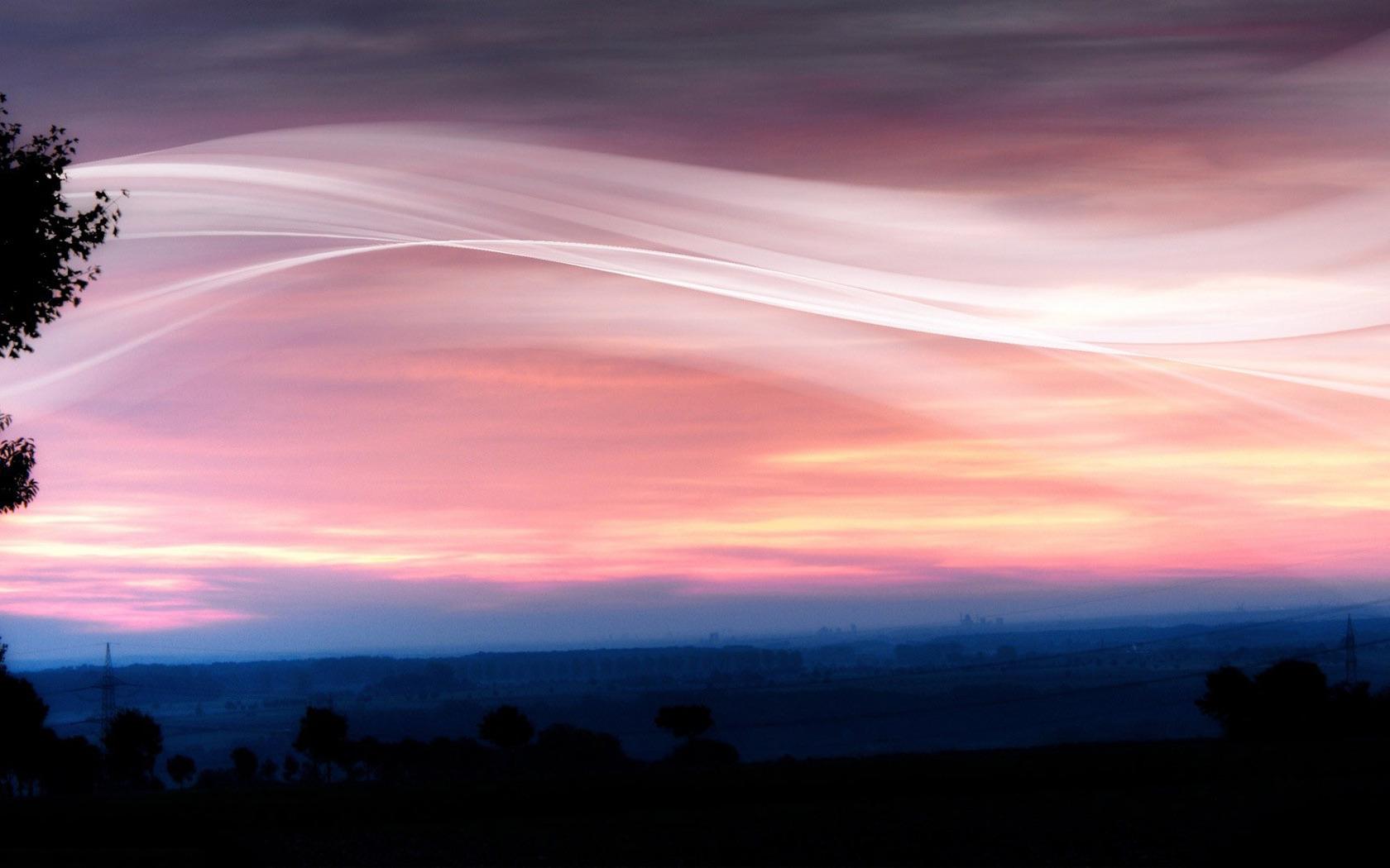 Download Pink sunset wallpaper 1680x1050