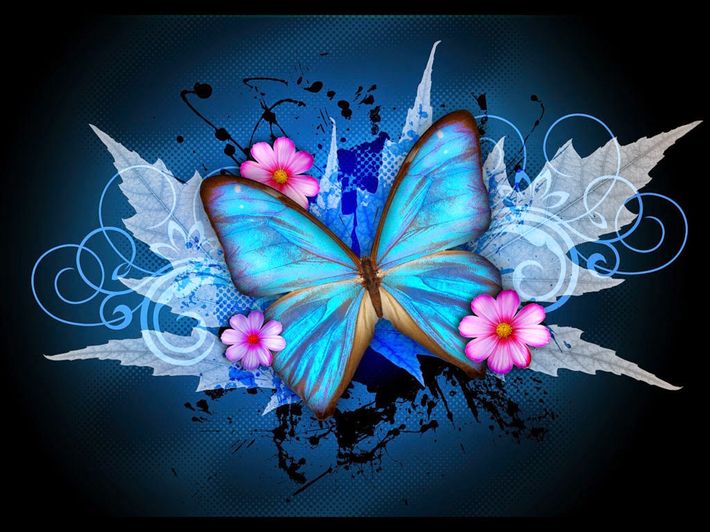Butterfly designs Art Wallpapers for desktop background download 1024x768