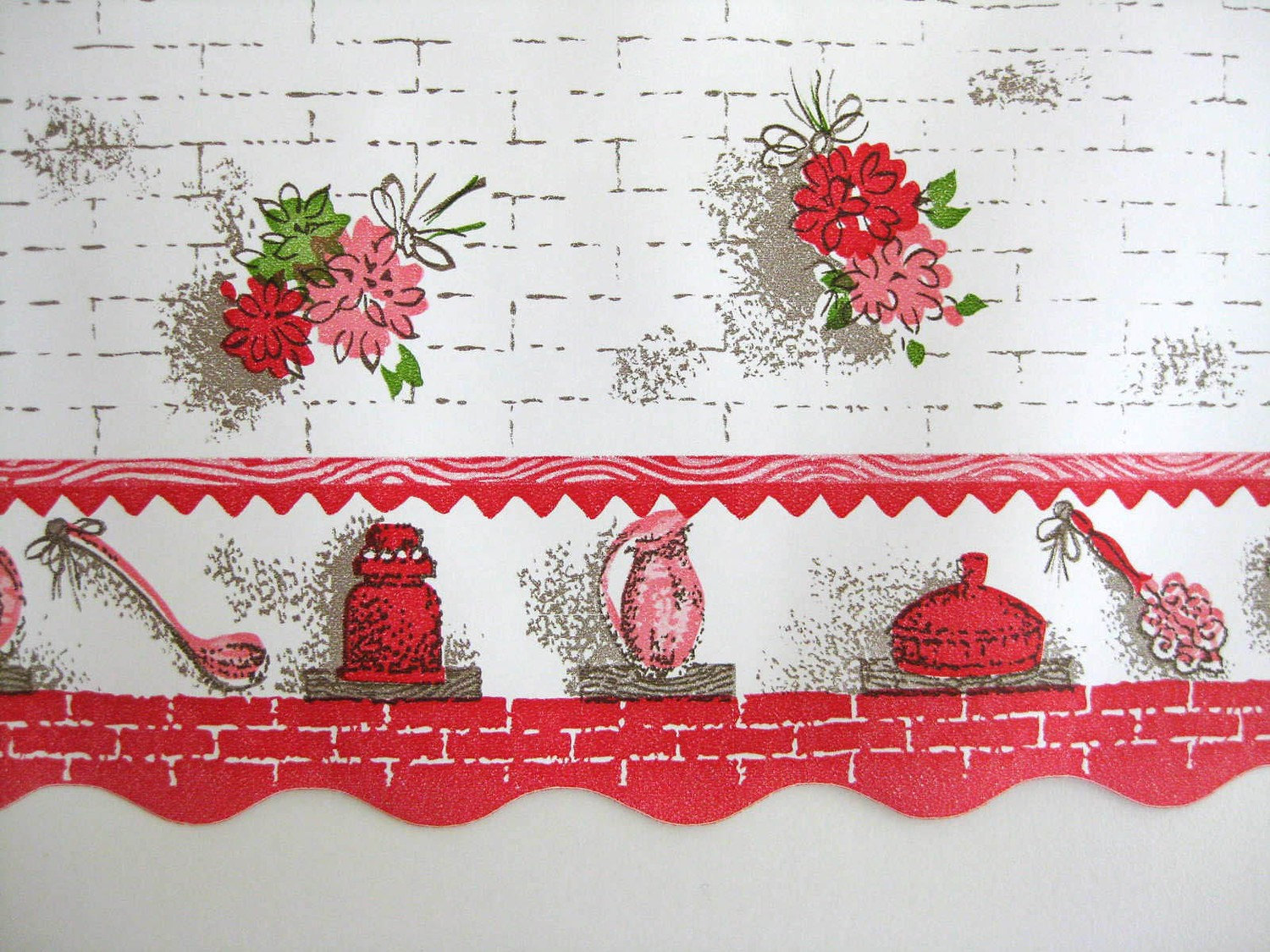 Free Download Floral Kitchen Wallpaper Border Wide Unused By