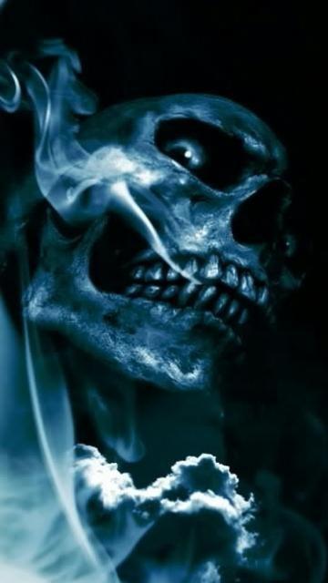 skull in smoke 360x640