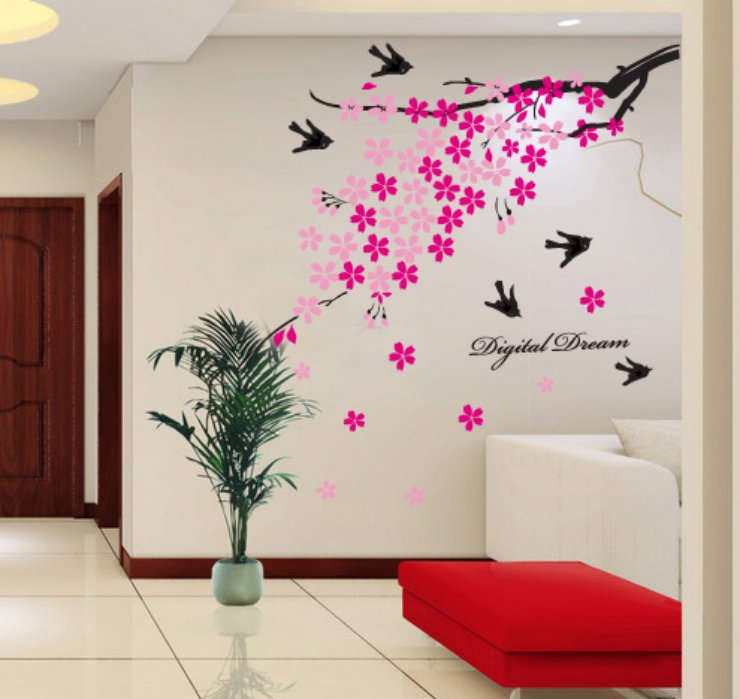 Environment Friendly, DIY Wall Sticker, Removable Wallpaper For Bed .