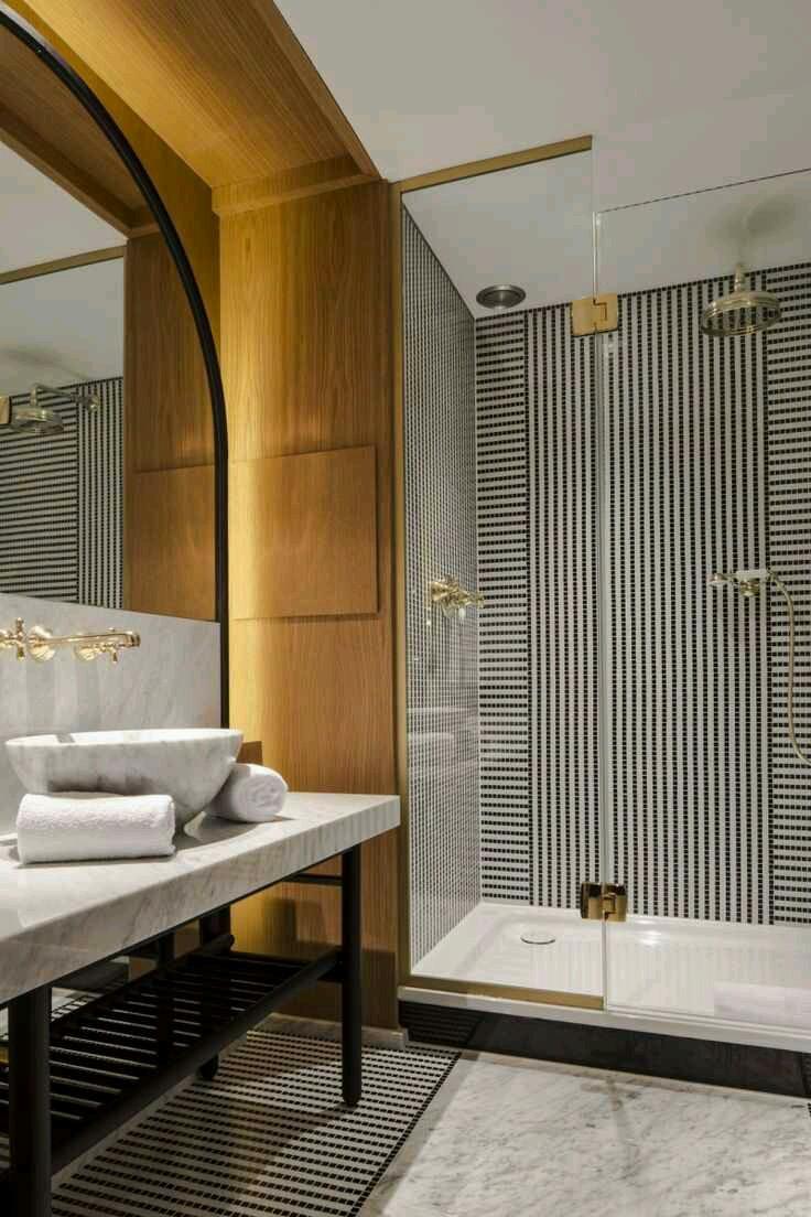 Bold bathroom tile wallpaper designs 736x1104