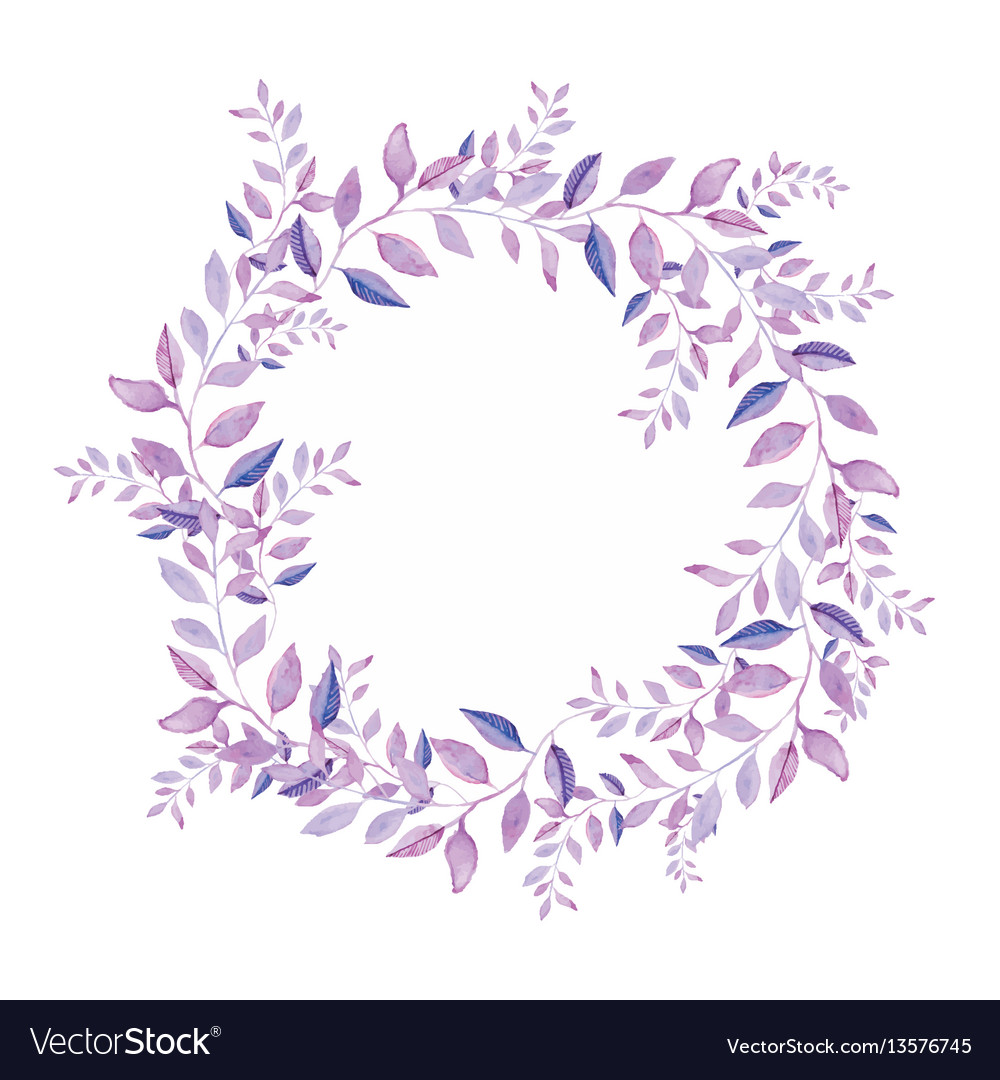 Floral wreath isolated on white background Vector Image 1000x1080