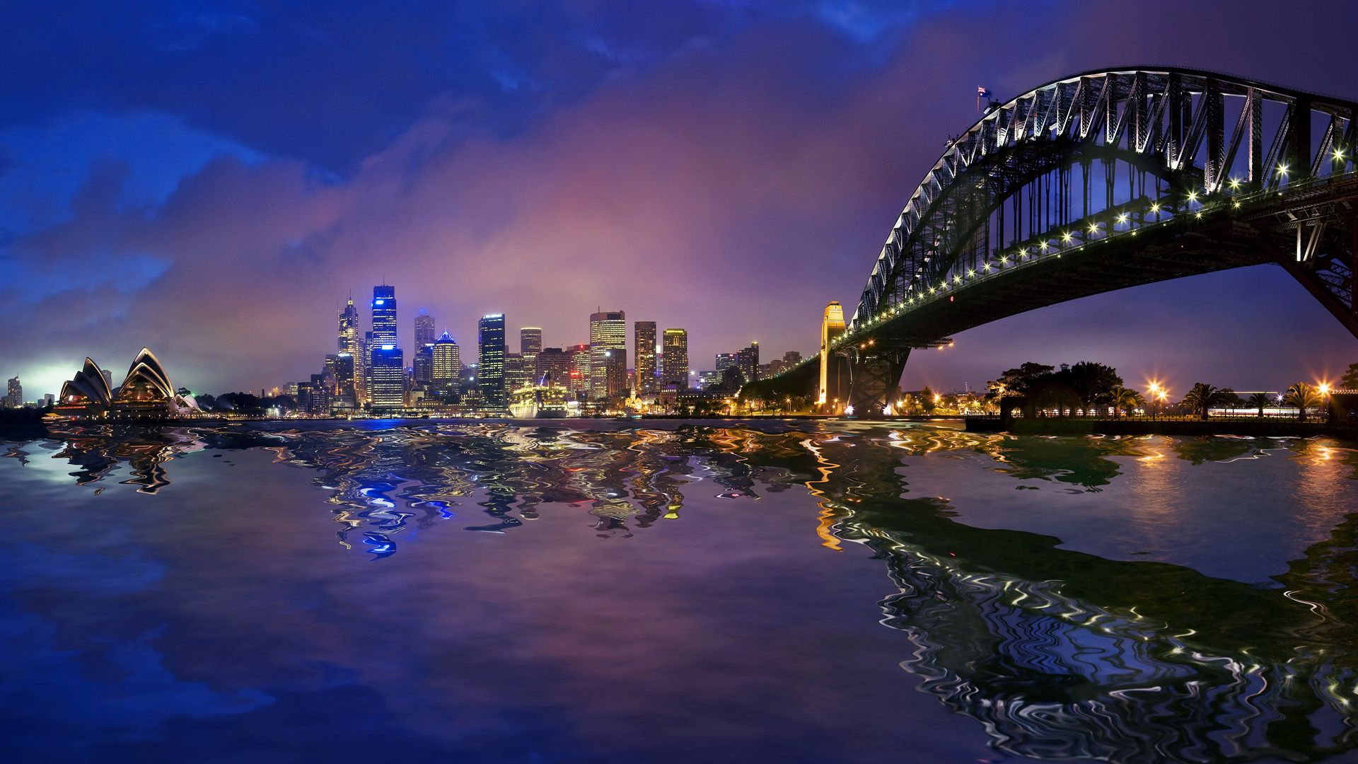 Sydney Harbour Bridge Cityscape Wallpaper Travel HD Wallpapers 1920x1080