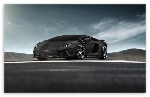 Black Lamborghini Aventador Supercar HD wallpaper for Standard 4:3 5:4 ...