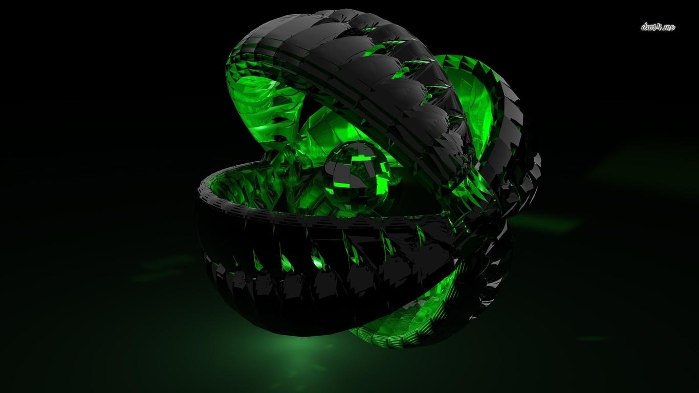 Glass orb wallpaper   3D wallpapers   41701 1366x768