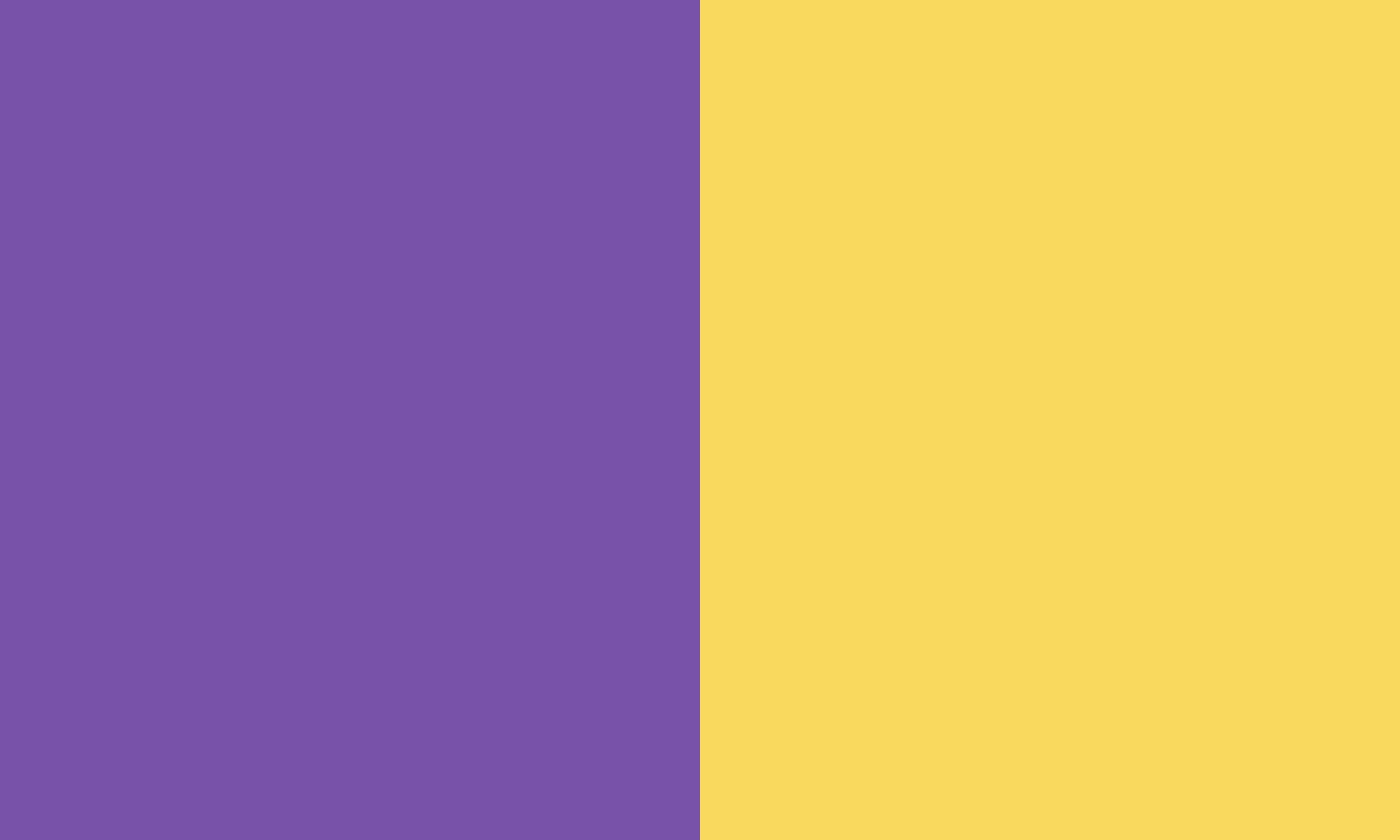 Royal Purple and Royal Yellow solid two color background 1280x768