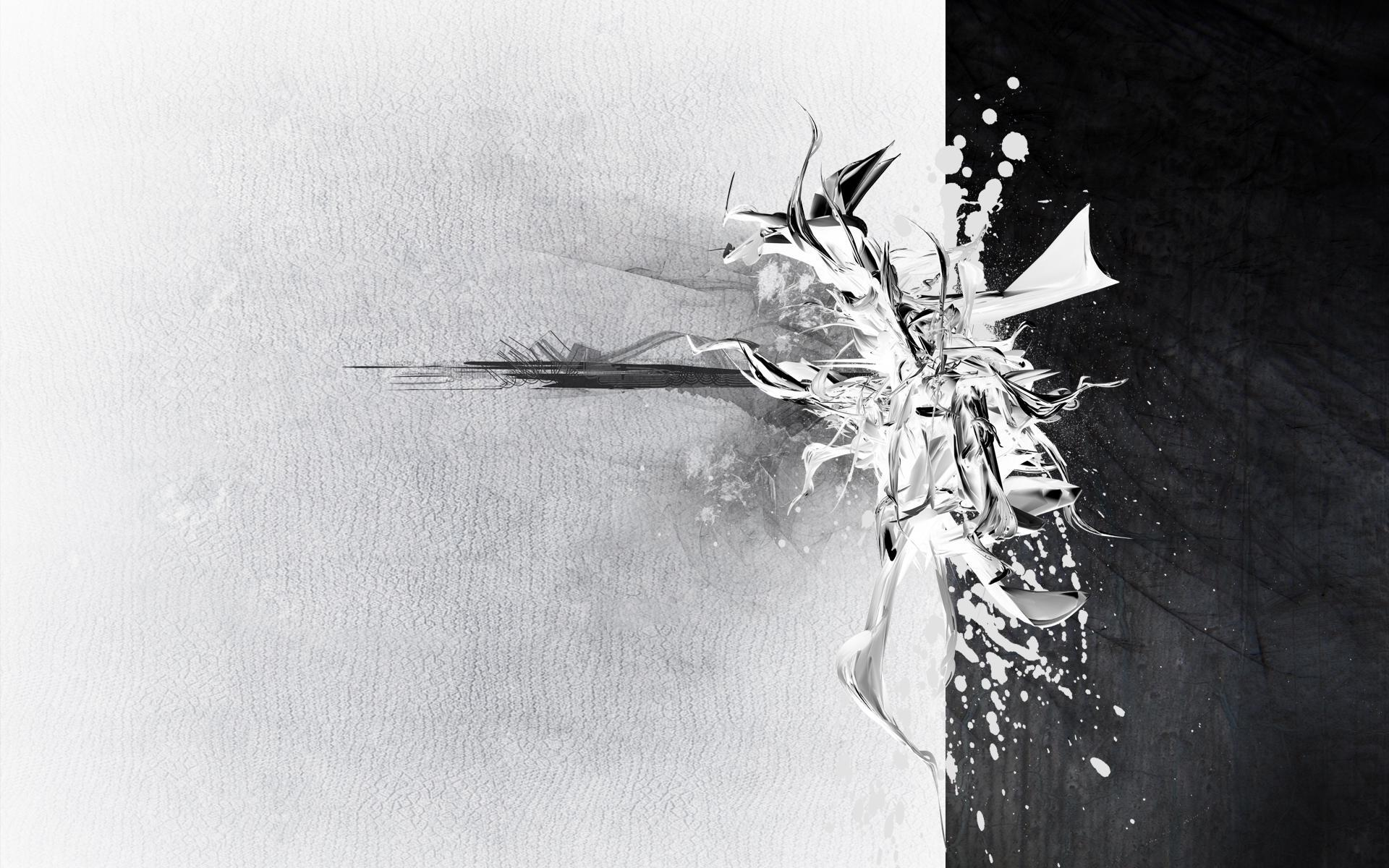 Black and White Abstract Wallpapers Black and White Abstract 1920x1200
