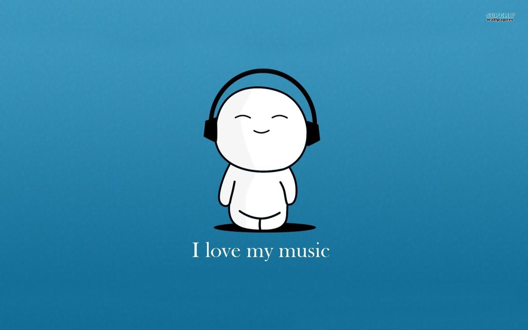 i love music true XD   Music Wallpaper 36556275 1680x1050