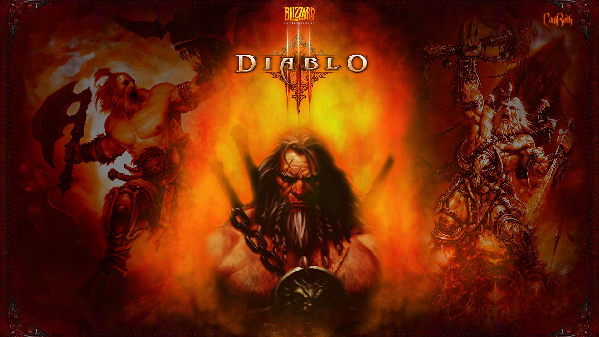 Fiery Barbarian Wallpaper Diablo 3 and Diablo Forums   Diablo 1920x1080