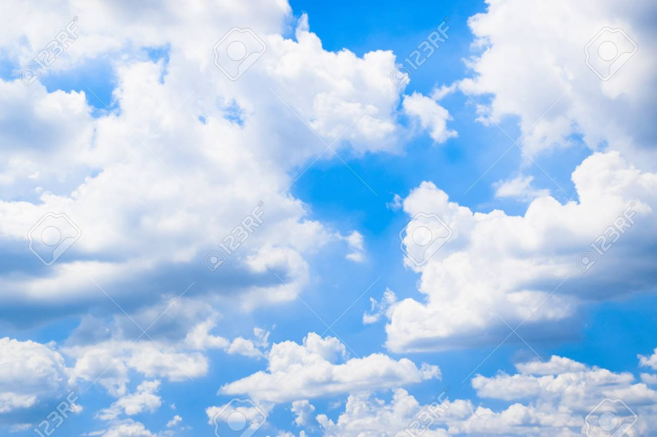 Blue Sky With White Clouds Background Stock Photo Picture And 1300x866