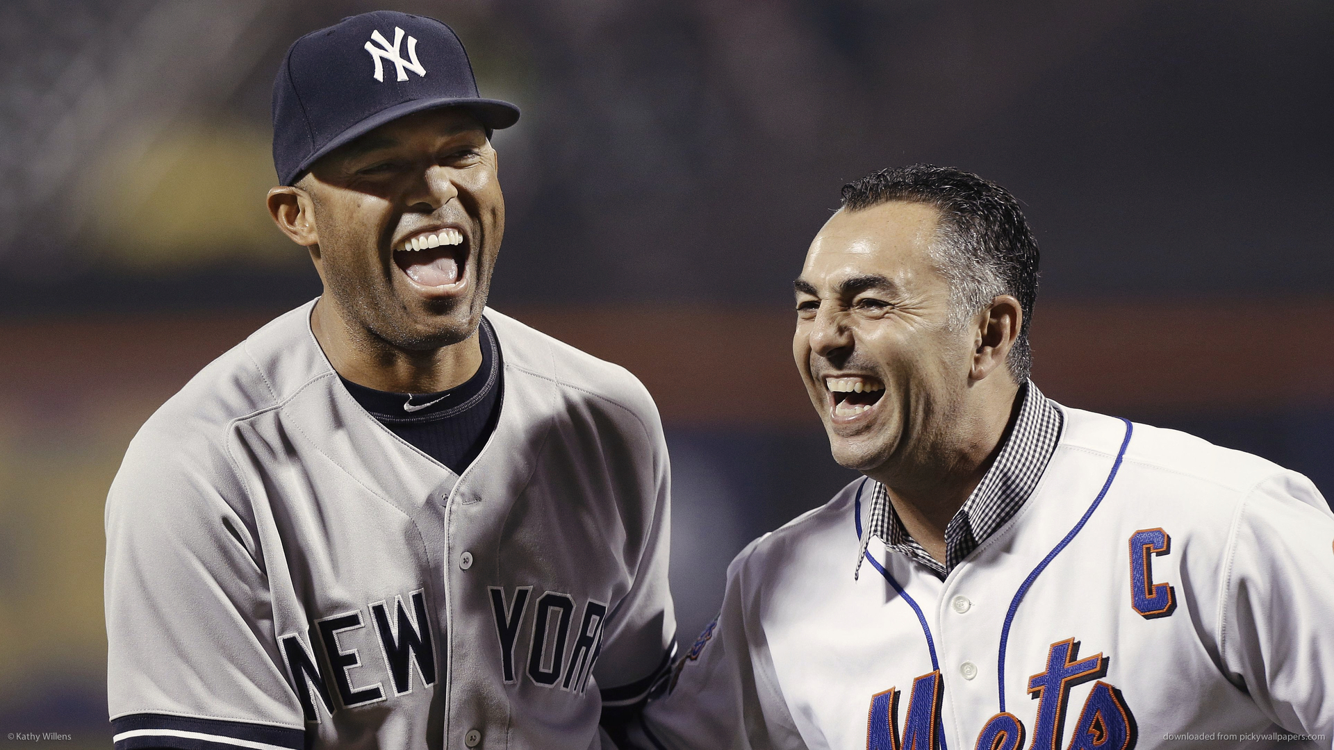 Mariano Rivera With Former Mets Closer John Franco Wallpaper For Nokia ...