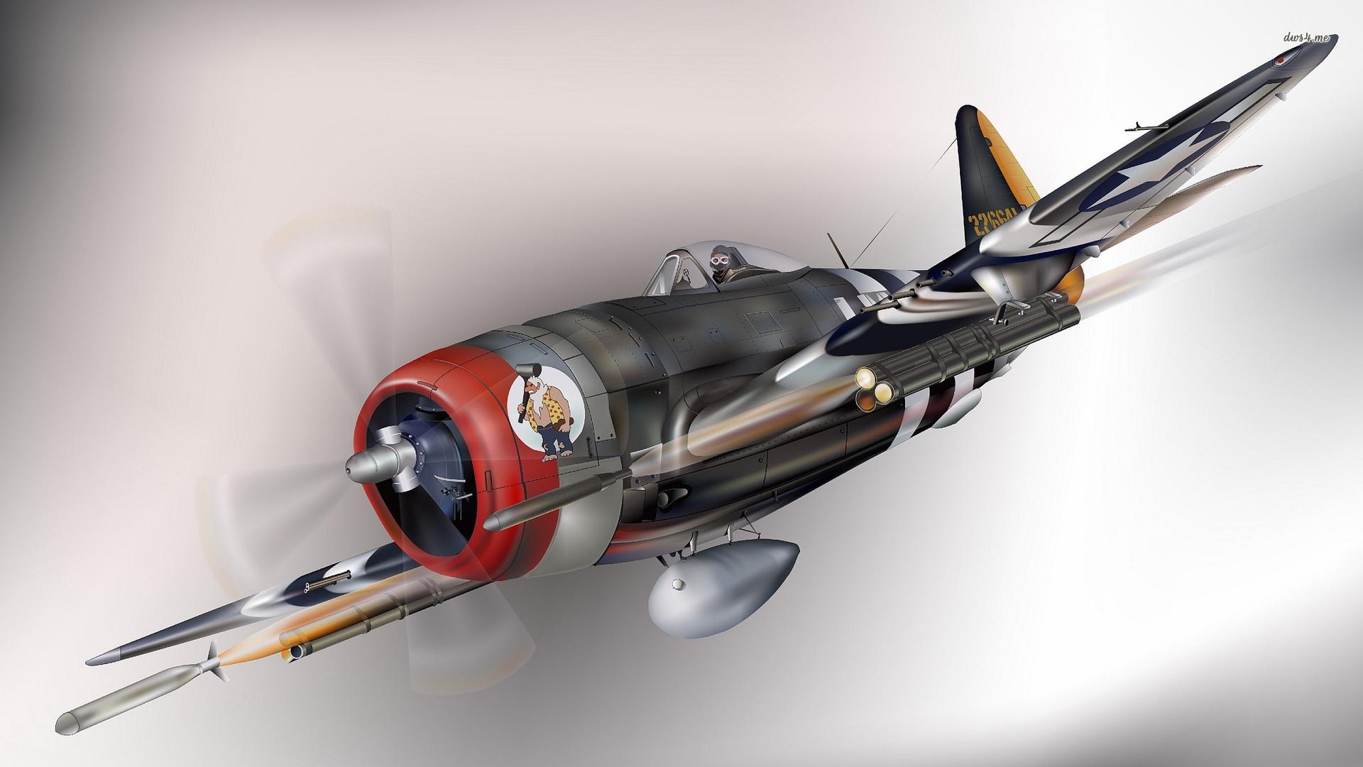 Republic P 47 Thunderbolt wallpaper   Aircraft wallpapers   42003 1920x1080