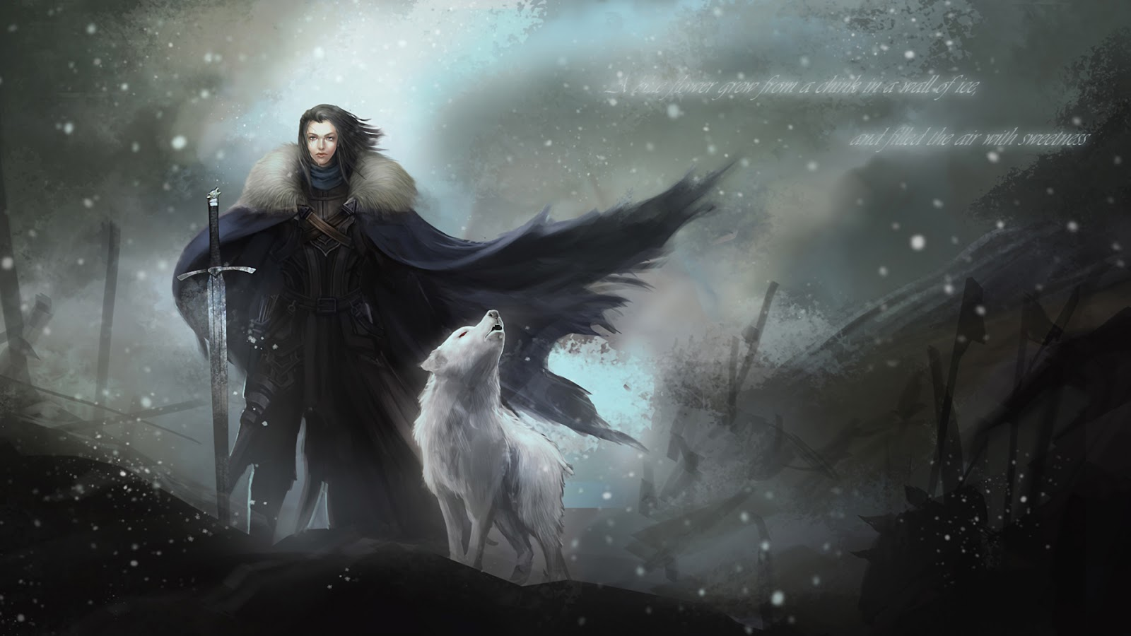 Jon Snow   Game Of Thrones HD HD Cartoons Wallpapers 1600x900