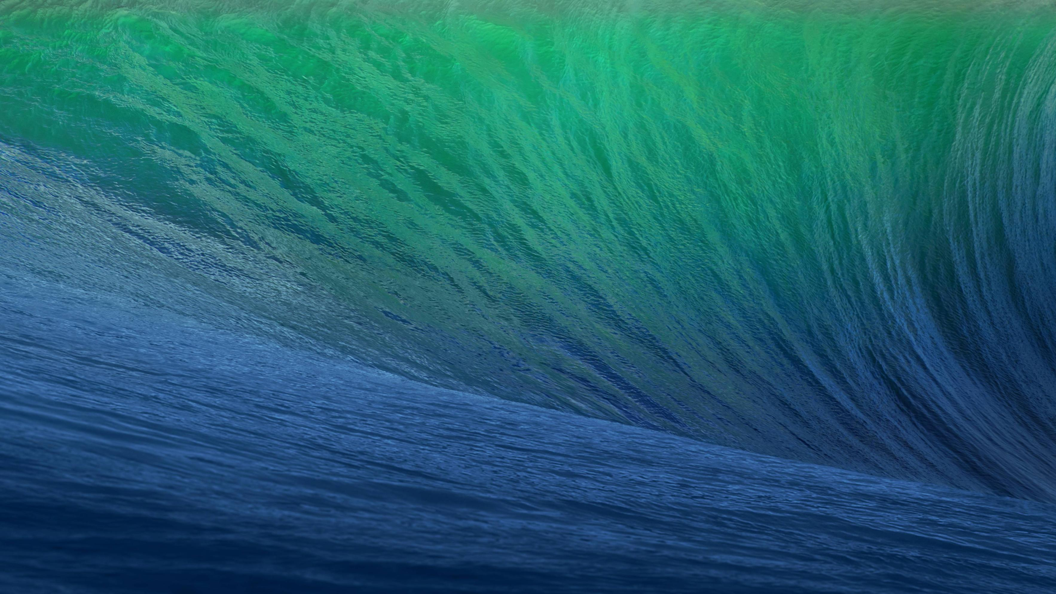 The OSX Mavericks Wave Background pics 3533x1987