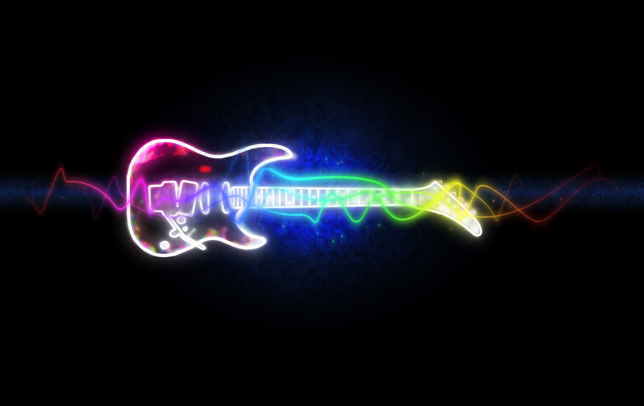 Black Neon Electric Guitar by mrdoopey 1280x808
