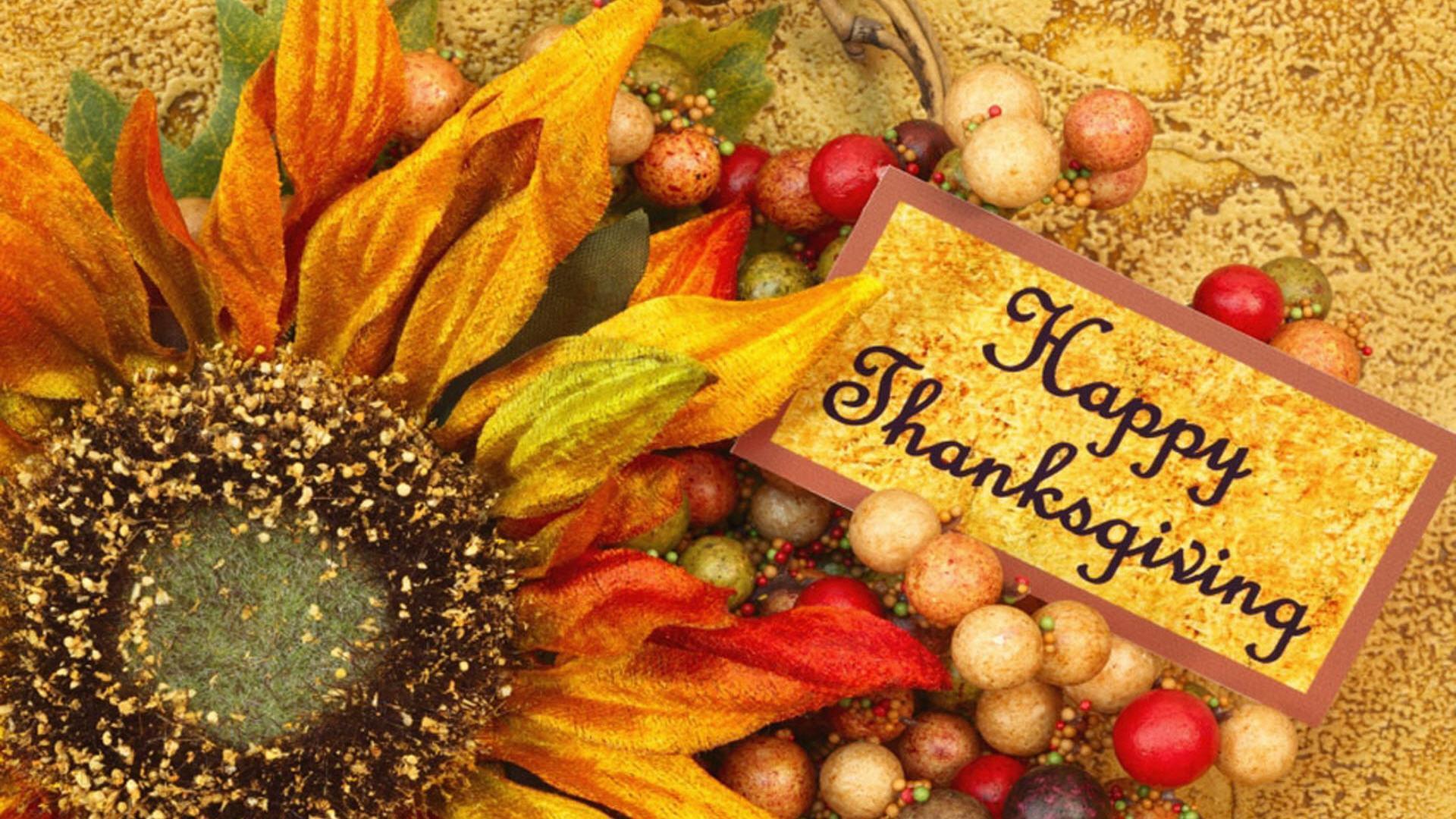 happy thanksgiving day flower desktop wallpaper   TheaBridge 1920x1080