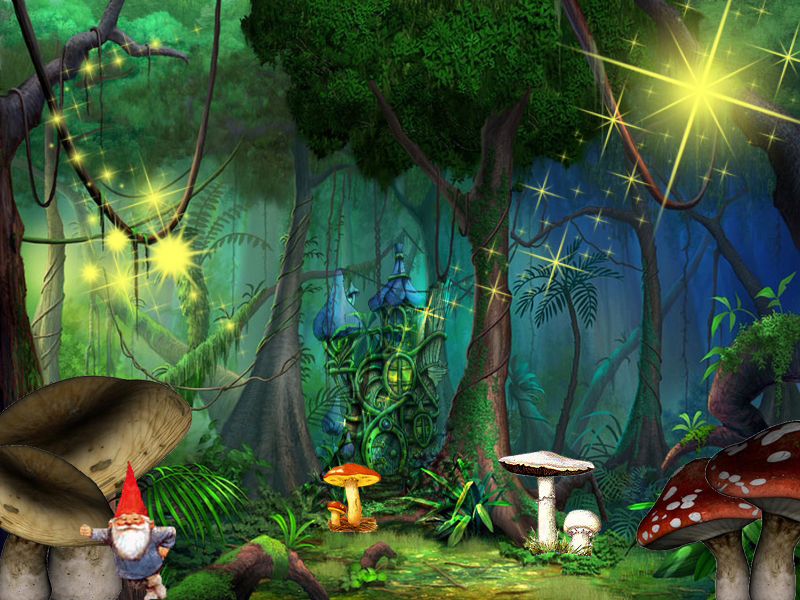 Fairy Garden Wallpaper for Desktop  WallpaperSafari