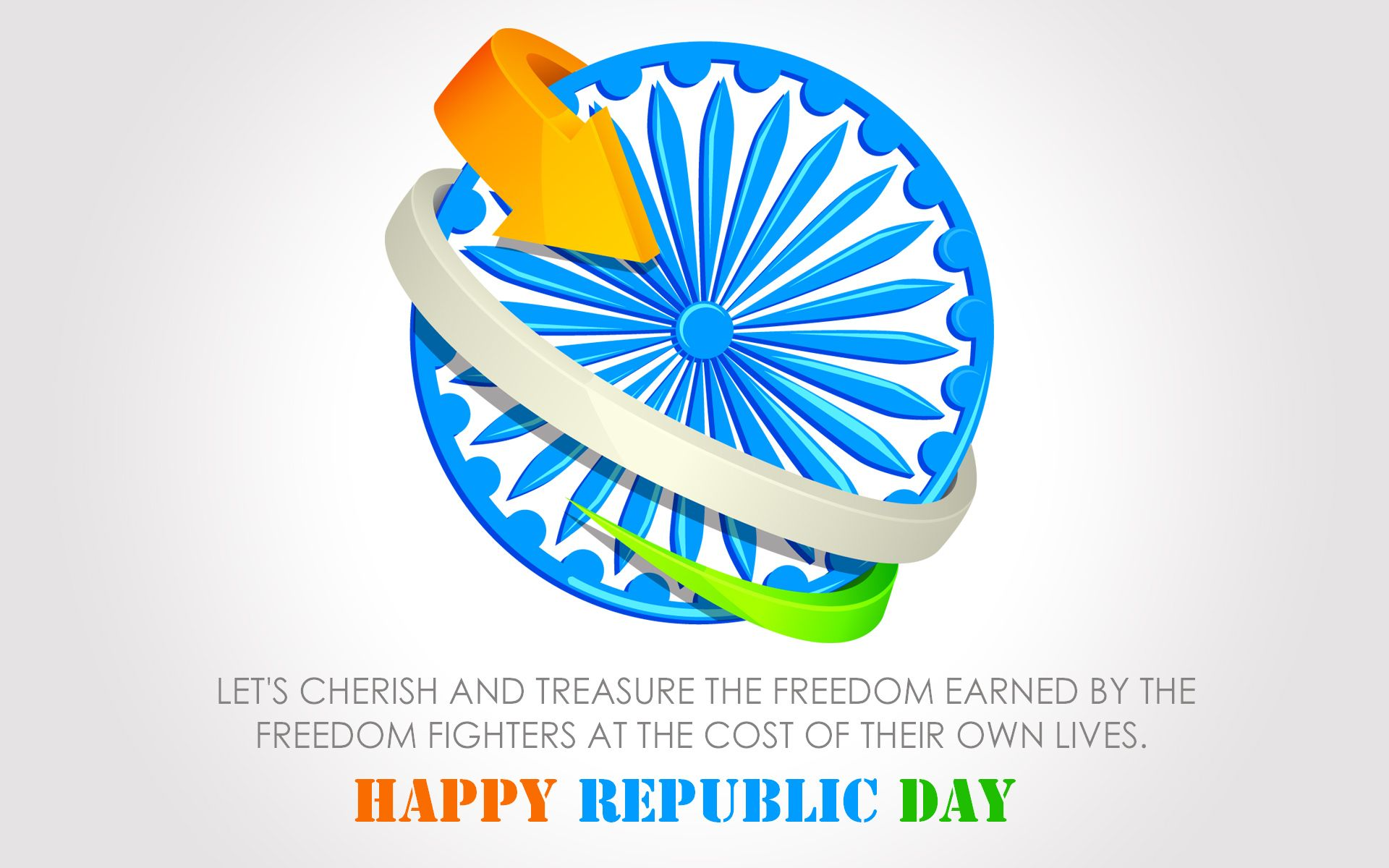 tri color and ashok chakra hd wallpaper Happy Republic Day 2014 1920x1200
