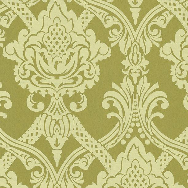 Flocked Metallic Wallpaper Green green rugs textiles wallpaper 612x612