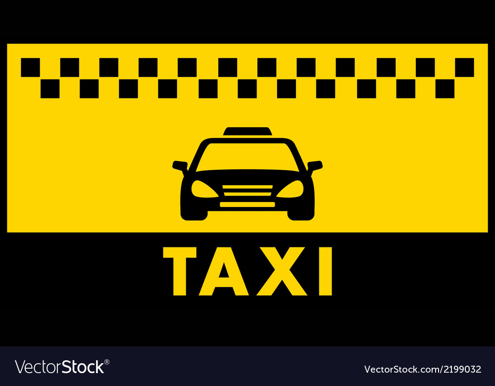Taxi background with place for text Royalty Vector 1000x780