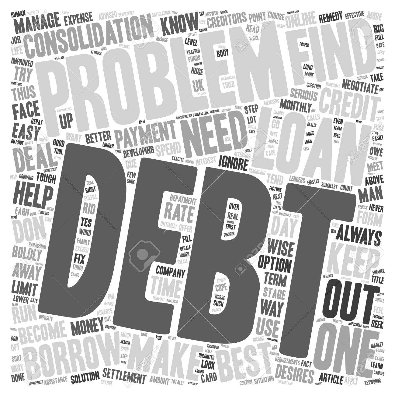 Debt Problems Learn How To Deal With Them Boldly Text Background 1299x1300