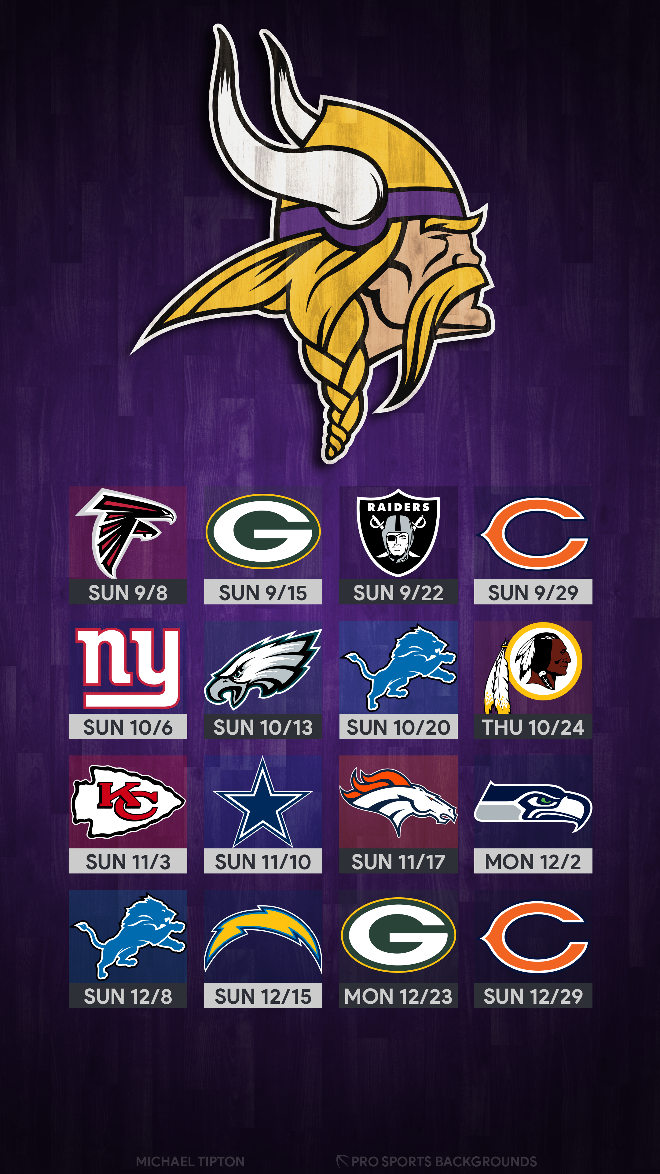photograph about Minnesota Vikings Printable Schedule named 40+] Minnesota Vikings 2019 Wallpapers upon WallpaperSafari
