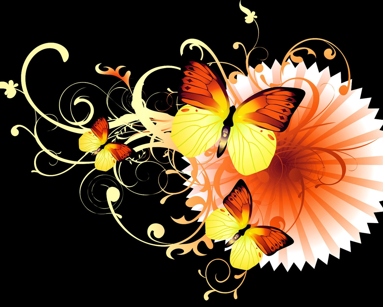 3d 3d colorful wallpapers 3d wallpapers butterfly butterfly wallpapers 1280x1024